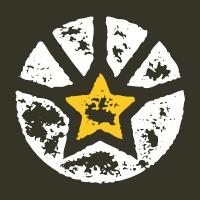 Fallen Insignia Logo Rasta Fade T-Shirt
