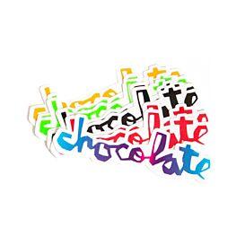 Chocolate Script Sticker