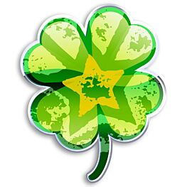 ChutingStar Lucky Four-Leaf Clover Sticker