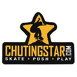 ChutingStar Skate Push Play Die-Cut Tall Sticker