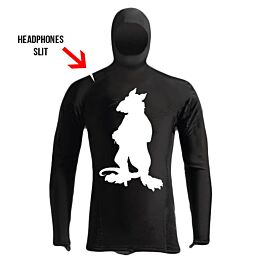 Tunnel Rats Athletic Black White Rashguard Hoodie